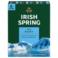 Irish Spring Icy Blast Deodorant Soap Bars