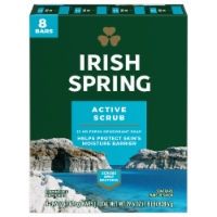 Irish Spring Deep Action Scrub Deodorant Bar Soap