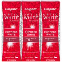 Colgate Optic White Platinum Express White Fress Mint Toothpaste Multipack