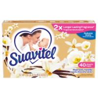 Suavitel Heavenly Vanilla Fabric Softener Dryer Sheets