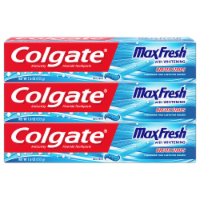 Colgate Max Fresh Cool Mint with Whitening Breath Strips Toothpaste 3 Count