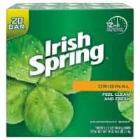 Irish Spring Deodorant Soap Original Scent - 3.75 Ounce - 20 Count - 1 unit