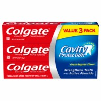 Colgate Cavity Protection Regular Flavor Toothpaste Value Pack 3 Count
