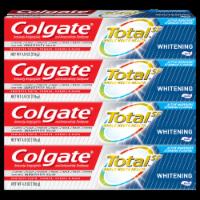 Colgate Total Whitening Toothpaste - 4 ct / 4.8 oz