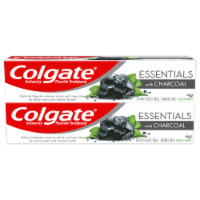 Colgate Essentials with Charcoal Fresh Mint Toothpaste 2 Count