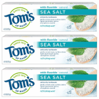 Tom's of Maine Refreshing Mint Sea Salt Anticavity Toothpaste 3 Count
