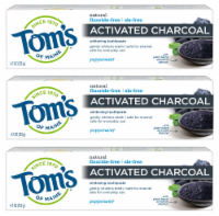 Tom's of Maine Activated Charcoal Toothpaste 3 Count