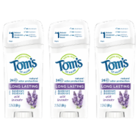 Tom's of Maine Long Lasting Wild Lavendar Stick Deodorant 3 Count