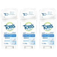 Tom's of Maine UnscentedLong Lasting Stick Deodorant 3 Count