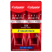 Colgate Optic White Renewal High Impact White Toothpaste Value Pack