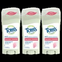Tom's of Maine Natural Powder Antiperspirant Deodorant 3 Pack) - 3 ct / 2.25 oz