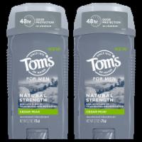 Tom's of Maine Cedar Peak Men's Natural Deodorant 2 Count