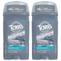Tom's of Maine Rugged Coast Men's Natural Strength Deodorant 2 Count