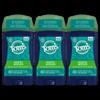 Tom's of Maine North Woods Men's Long Lasting Deodorant 3 Count