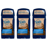 Tom's of Maine Mountain Spring Long Lasting Men's Deodorant 3 Count