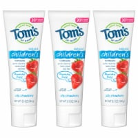 Tom's of Maine Silly Strawberry Children's Toothpaste 3 Count