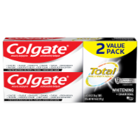 Colgate Total Whitening + Charcoal Toothpaste Value Pack - 2 ct / 4.8 oz