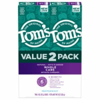 Tom's Whole Care Peppermint Natural Flouride Toothpaste Value Pack