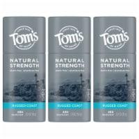 Tom's of Maine Natural Strength Rugged Coast Men's Deodorant Stick