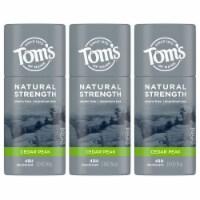 Tom's of Maine Natural Strength Cedar Peak Men's Deodorant Stick
