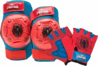 Bell Spiderman Pad and Glove Set - Red/Blue