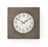 Retro Square Bronze Metal Wall Clock - 1