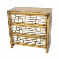 Vintage Wooden Cabinet with 3 Drawers - 1