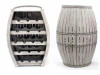 Teton Home Antique Cool Half-barrel Shaped Wooden Wine Rack - 1