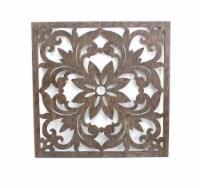 Vintage Dark Bronze Floral Wall Plaque - 1