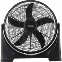 Lorell LLR00301 20 in. 3-Speed Box Fan - Tilt Adjustment, Black