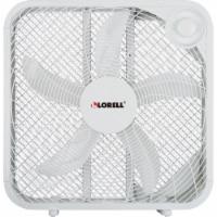 Lorell LLR44575 3-Speed Box Fan, White