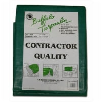 T.W. Evans Cordage G1020 10 ft. x 20 ft. Contractor Grade Poly Tarp in Black and Green - 1