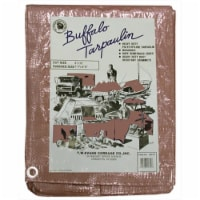 T.W. Evans Cordage B1220 12 ft. x 20 ft. Buffalo Poly Tarp in Brown - 1
