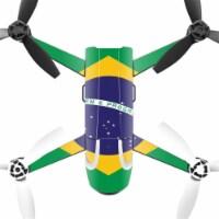 MightySkins PABEBOP2-Brazilian Flag Skin Decal Wrap for Parrot Bebop 2 Quadcopter Drone - Bra - 1