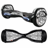MightySkins RAHOV2-Black Tags Skin Decal Wrap for Razor Hovertrax 2.0 Hover Board Balancing S - 1