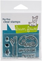 Lawn Fawn Clear Stamps 3 X2 -One In A Chameleon Flip-Flop - 1