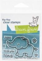 Lawn Fawn Clear Stamps 3 X2 -Elphie Selfie Flip-Flop - 1