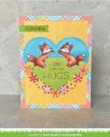 Lawn Fawn Clear Stamps 3 X2 -Butterfly Kisses Flip-Flop - 1