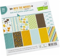 Lawn Fawn Single-Sided Petite Paper Pack 6 X6  36/Pkg-Into The Woods Remix, 12 Designs/3 Each - 1