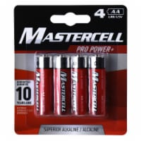Mastercell Pro Power AA Alkaline Batteries 4 pk Carded - Case Of: 10; - Case of: 10