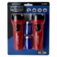 Dorcy Active Series LED Flashlights - Assorted - 2 pk