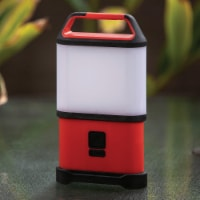 Life Gear Red/Black Storm Proof ABS LED Collapsible Lantern - 1 ct
