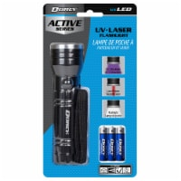 Dorcy Active Series UV + Laser Flashlight - Black