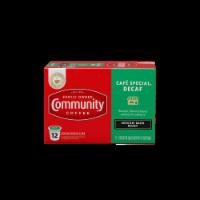 Community Coffee Cafe Special Decaf Medium-Dark Roast Coffee Single-Serve Cups