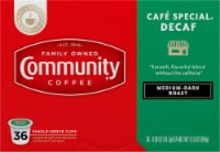 Community Coffee Cafe Special Decaf Medium-Dark Roast Coffee Single-Serve K-Cup Pods 36 Count