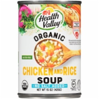 Health Valley Organic No Salt Added Chicken Rice Soup
