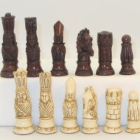 WorldWise Imports 40VIC-647 1.9 in. Victorian Resin Men on Marrakesh Chess Set - 1