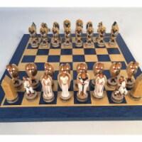 WorldWise R73868-BT Angels Resin Men on Blue & Tan Board
