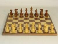 Worldwise Sheesham American Emperor Chess Set With Walnut Board - 1
