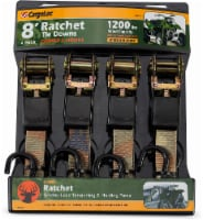 CargoLoc Medium Duty 8 Foot Ratchet Tie Downs - Camo